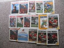 96 B.C. Lions Home Programs, mostly 1972-1987,  plus more.