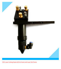 """HOT CO2 Laser Cutting Head for 25mm/1"""" Mirror with Air Assist&Laser Dot Frame"""