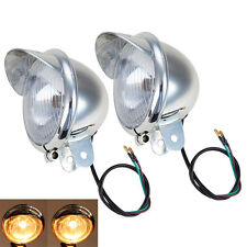 Universal Driving Headlight Spot Fog light Motorcycle Touring Chopper Custom