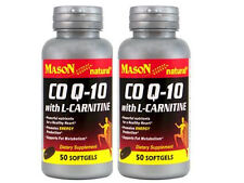 2 X 50 = 100 SOFTGELS COQ10 WITH L-CARNITINE Cholesterol Support  CO Q-10 HEART
