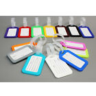 5X Travel Luggage Bag Tag Name Address ID Label Plastic Suitcase Baggage Tags