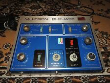 VINTAGE MU-TRON BI-PHASE PHASER SHIFTER EFFECTS PEDAL ORIGINAL w/FOOTSWITCH