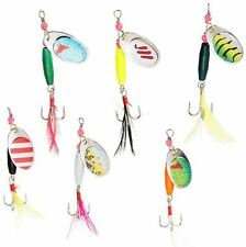 6 Fishing Spinners Spoon Metal Lure With Hook Practical Fishing Lures