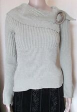 NWT KHAKI HIGH END QUALITY RIBBED JUMPER FREE SIZE 38'' CHEST