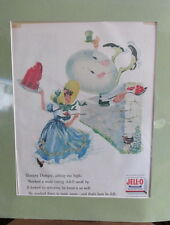 Vintage Jell-O Poster / AD from 1956 matted 14X17 frame