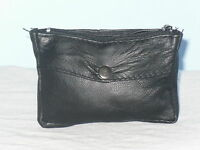 A Small Soft Leather Coin/Key Pouch Purse With 2 Key Rings And Zip Pocket.