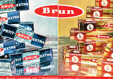 PUBLICITE   1963   BRUN    biscuits thé  ( 2 pages)