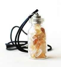 REIKI HEALING ENERGY CHARGED CITRINE GEMSTONE CRYSTAL STONES  BOTTLE PENDANT