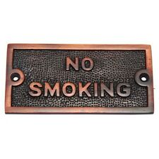 Solid Brass plaque of No Smoking Sign plate Antique copper size 102 mm x 51 mm