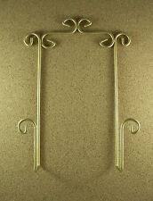 Wall Hanger Holder For Displaying A Collector Plate Gold Holds A Larger Size