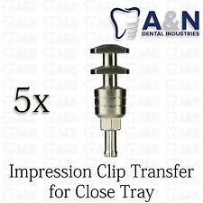 5 Impression Clip Transfer for closed tray Internal Hex Implant Lab Prosthetic