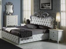 *NEU* Edles Doppelbett Petra mit Bettkasten weiß-creme/160x200/Polsterung TOP