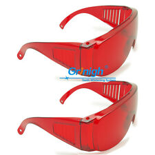 2xDental Safety Spectacles Protective Glasses Goggles Anti Laser UV Ray Anti-fog