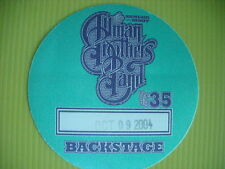 ALLMAN BROTHERS BAND INSTANT LIVE STICKER BACKSTAGE OCTOBER 9 2004