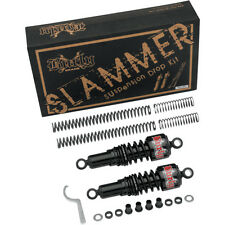 Burly Black Slammer Shocks + Fork Springs Lowering Kit 88-03 Harley Sportster XL