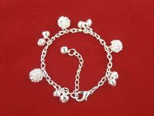 Hollow Out Ball 925 Sterling silver Plated bracelet fashion jewelry WISSLGO