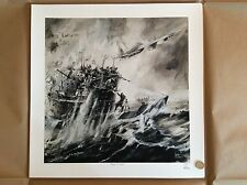 Limited Edition Aviation Print Coastal Command Mosquito U-boat Keith Burns