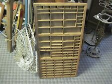 ANTIQUE PRINTER TYPE SET TRAY DRAWER WOOD early 1900 SHADOW BOX PRIMITIVE  jmj
