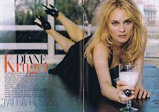 COUPURE DE PRESSE CLIPPING 2008 Diane Kruger  (6 pages)