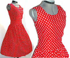 Vintage 50's style Valentines polka dot boho retro pin up dress LARGE L