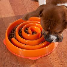 Slo Bowl Pet Dog Cat Interactive Slow Food Feeder Healthy Gulp Feed Dish Large