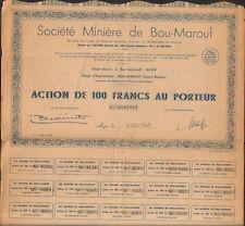 Société Minière de BOU-MAROUF (ALGÉRIE) (K)