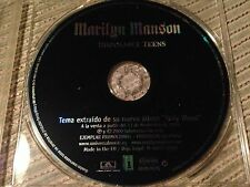 MARILYN MANSON SPANISH CD SINGLE SPAIN 1 TRACK PROMO DISPOSABLE TEENS