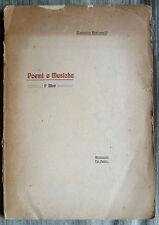 Giannotto BASTIANELLI POEMI E MUSICHE 1910 FUTURISMO Pratella musica Tip. Pulini