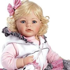 Reborn Baby Doll Toddler Lifelike Vinyl Girl Play Realistic Blonde Cat Clothing