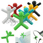 6pcs Colorful Man Paper Bookmark Clip Drink Book Reading Office Stationery Q