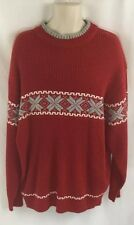 Johnny Handsome men's pull over red sweater big & tall sz 2XL red snowflake EUC