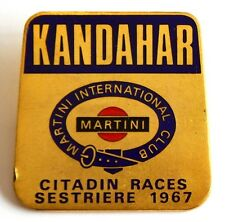 Spilla Sestriere 1967 Citadin Races Kandahar Martini International Club