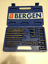 BERGEN 25pc SCREW EXTRACTOR DRILL AND GUIDE SET B2579