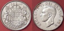 Extra Fine 1949 Canada Silver 50 Cents