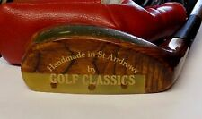 Hand Made St Andrews The Duke Wooden Mallet Putter + Head Cover