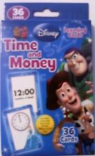DISNEY TIME and MONEY Learning FLASH CARDS TOY STORY Pixar Cars Princess NEW!