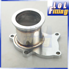 "T3/T4 Turbo 5 Bolt Exhaust Turbo Down Pipe Flange To 2.5"" 63mm V band Adapter"