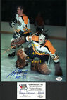 HOFers #30 Gerry CHEEVERS Signed RECOVERS with #4 Bobby ORR BOSTON Bruins 8X10!!