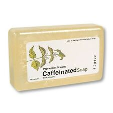 Caffeine Peppermint Boby Wash Caffeinated Bar Soap 4.5oz Mint Herbal Morning Aid
