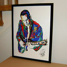 Les Paul, Guitar Player, Musician, Inventor, Jazz, Country, 18x24 POSTER w/COA