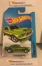 '67 Ford Mustang Coupe #93 * Green * 2014 Hot Wheels * N30