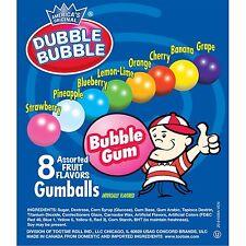 850 DUBBLE BUBBLE GUM BALLS 1' ROUND (.25 CENT VENDIN) GUMBALLS  GUM $212.50