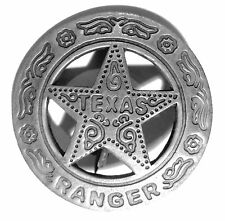 "Texas Rangers ""TEXAS LONE STAR"" Badge Paso Back Soldered pin back Copper Base"