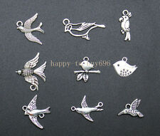 45PCS wholesale mixed Tibetan silver charms for bracelets the birds pendant