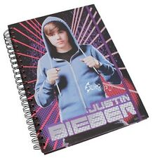 Official Justin Bieber A4 Spiral Bound Hardback Notebook
