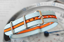 Quality 20mm Porsche Lemans Gulf Racing Colors Strap Sport+ Watch Band 316 Steel