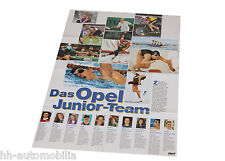 Poster Opel Junior Team 1996 Beilage Opel Magazin Start 76x52 cm Auto PKWs