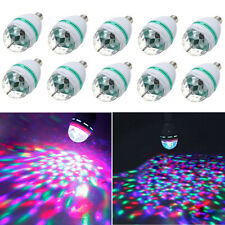 10X E27 3W Crystal Magic Ball Bulb RGB Rotating LED Stage Lighting for DJ Party