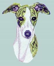 "Whippet Dog, Embroidered Patch 4.8"" x 6"""