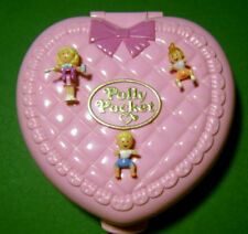 Polly Pocket Mini ♥ Rosa Baby Herz ♥ Perfect Playroom ♥ 1994 ♥ Komplett ♥